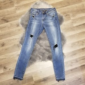 Articles of Society distressed raw hem jeans 25
